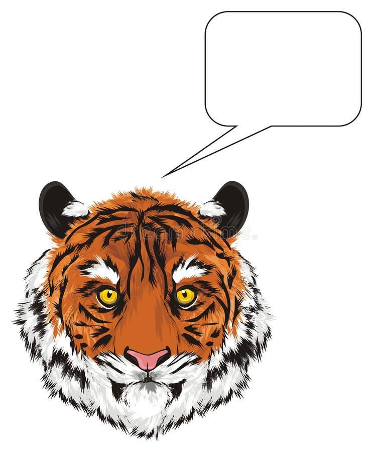 Tiger och rent tecken stock illustrationer