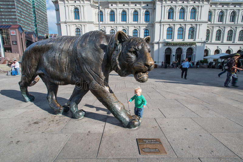 Tiger of Oslo Norway stock image