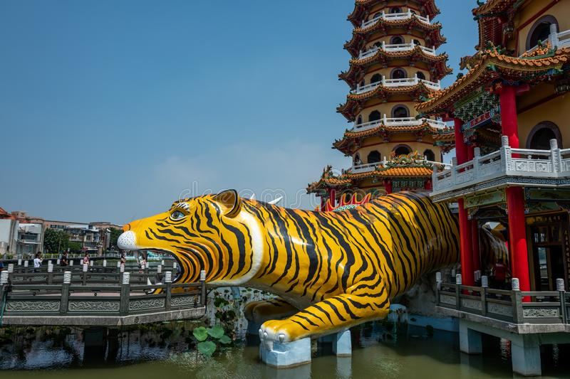 The Tiger Pagoda in Kaohsiung royalty free stock image