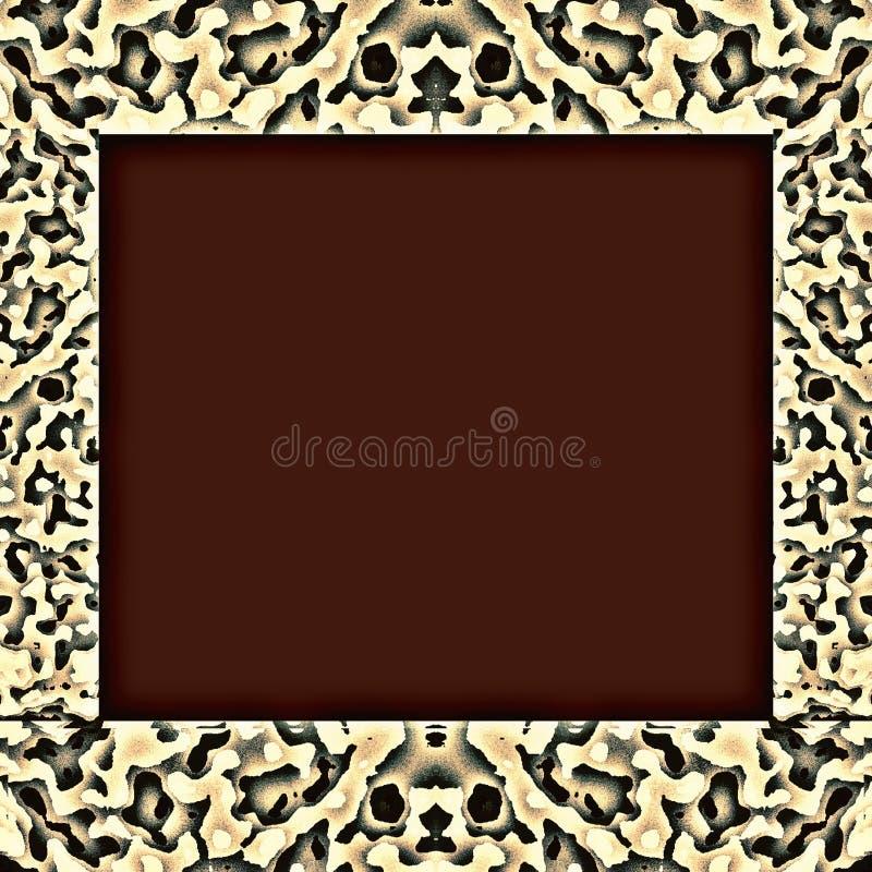 Tiger Pattern Frame royalty-vrije stock afbeelding