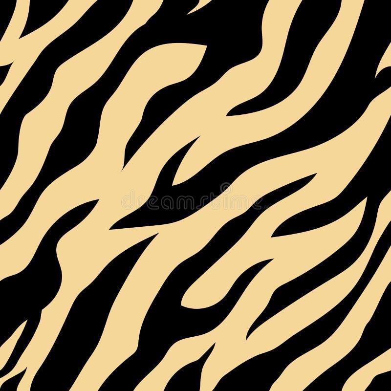 Tiger pattern seamless vector royalty free stock photos