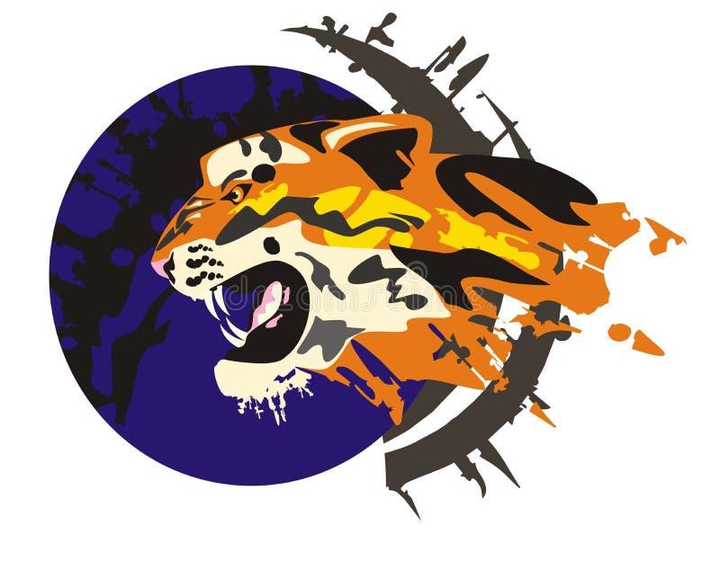 Tiger profile stock illustration