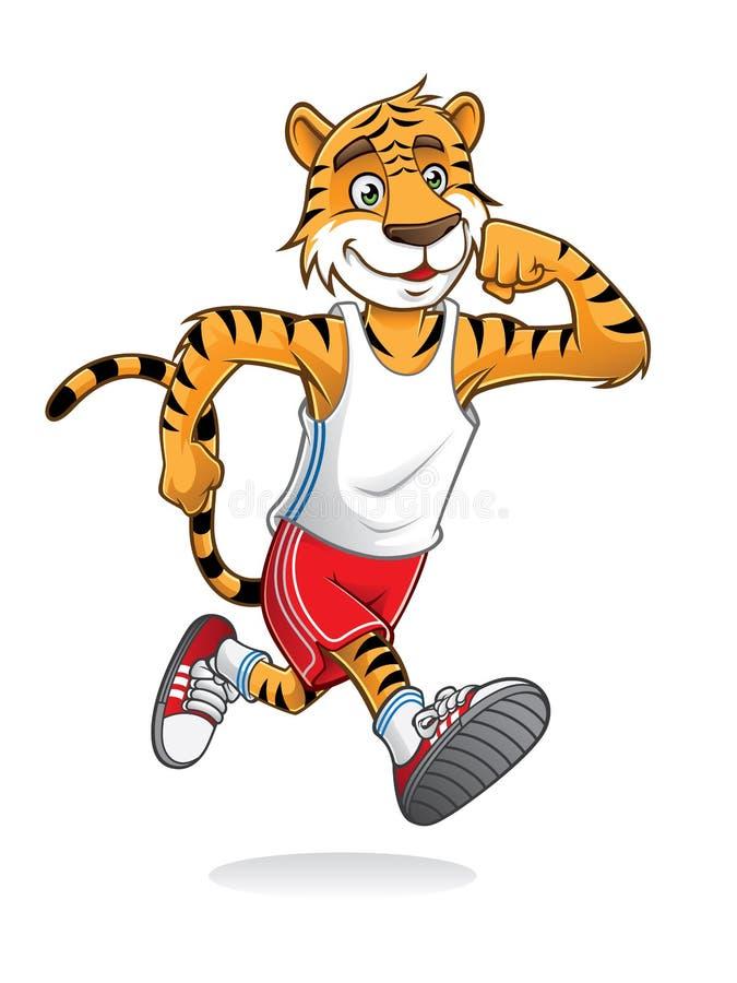 Tiger Runner royalty-vrije illustratie