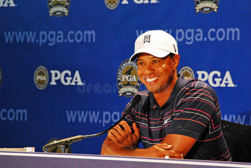 Tiger's interview stock photography