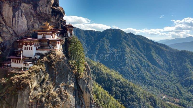 Tiger ` s Nest Bhutan lizenzfreies stockbild
