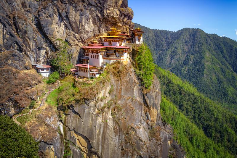 Tiger`s Nest Monastery, Paro Taktsang stock photography