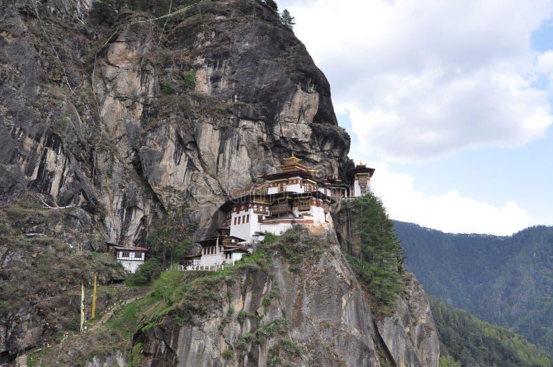 Tiger's Nest Overlooking Paro Valley, Bhutan stock images