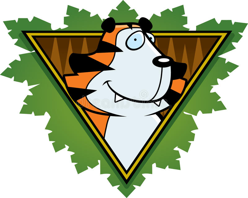 Download Tiger Safari Icon stock vector. Image of jungle, animal - 15758838