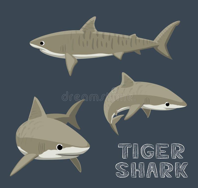 Tiger Shark Cartoon Vector Illustration vector illustration