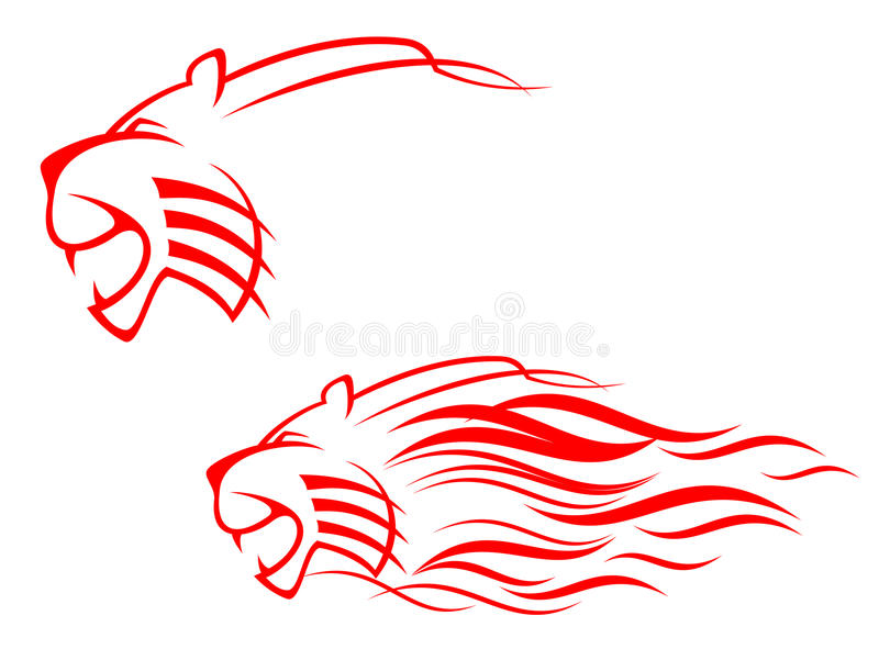 Tiger sign stock images