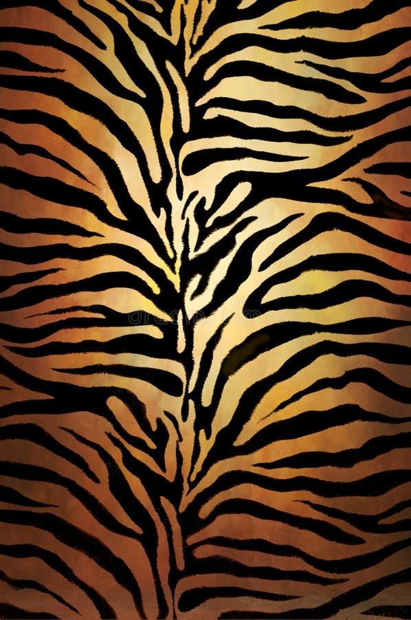 Tiger skin. Pattern on fabric.Animal skin print texture royalty free stock photos