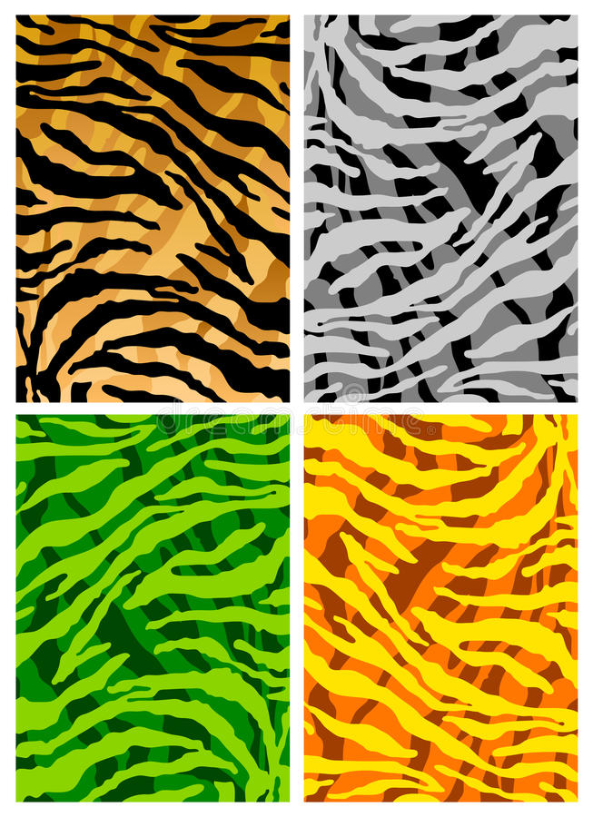 Tiger Skins Texture Background Royalty Free Stock Photos