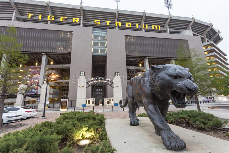 Tiger Stadium d'université de l'Etat de la Louisiane à Baton Rouge photographie stock libre de droits