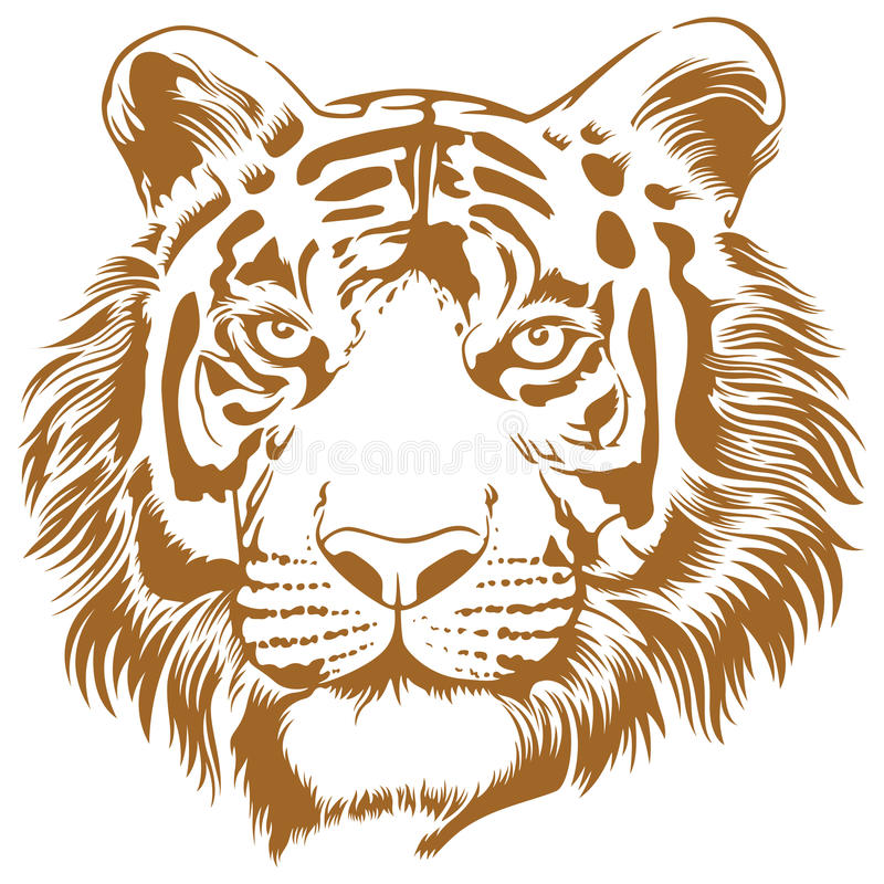 Tiger Stencil. This is an attractive and powerful stencil artwork of tiger