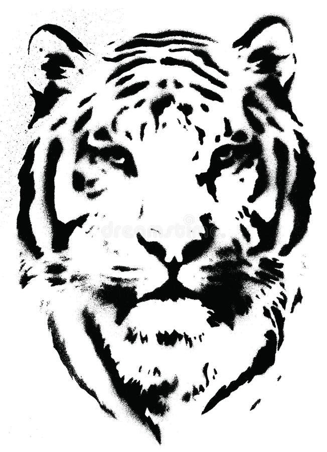 Download Tiger Stencil Vector stock vector. Illustration of shadow - 33586024