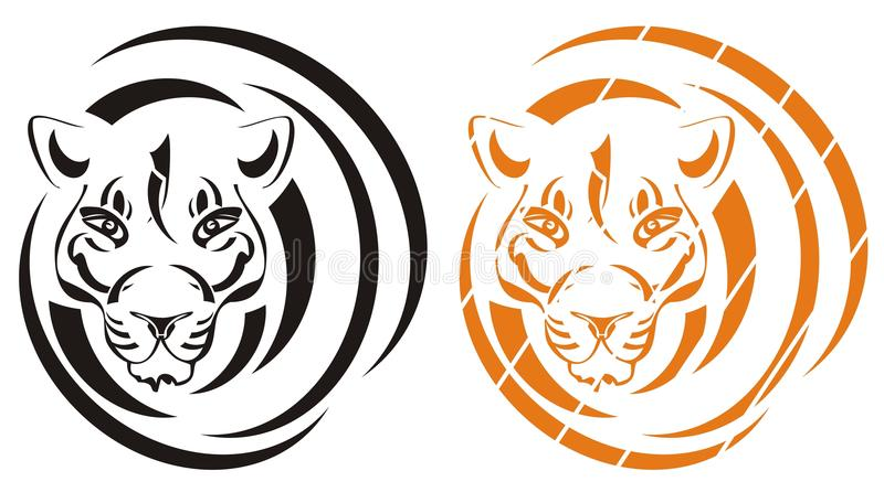 Download Tiger symbol stock vector. Illustration of muzzle, natural - 28463492