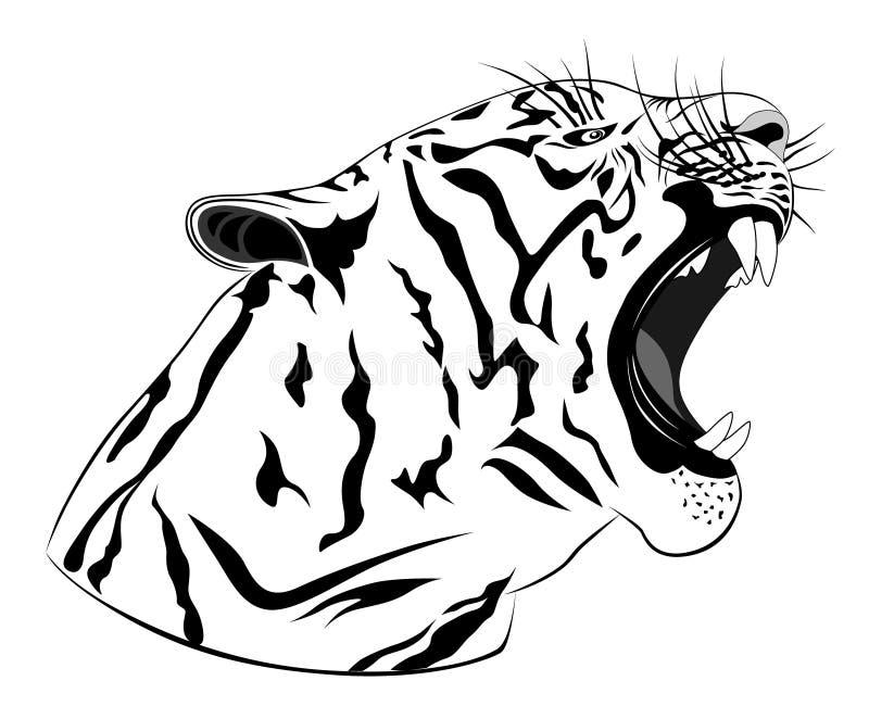 Tiger, tattoo royalty free illustration