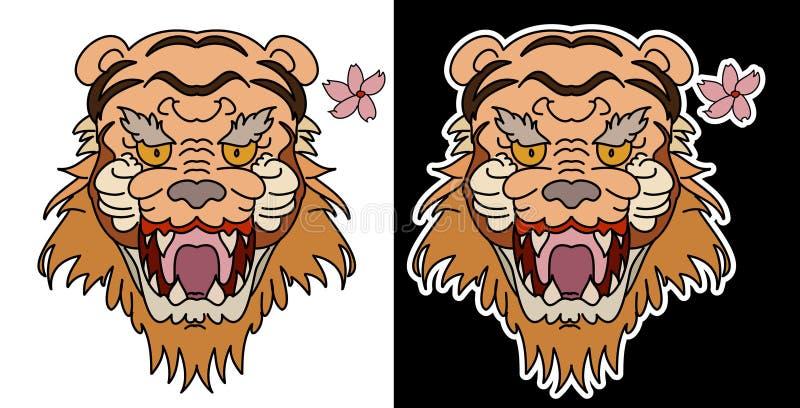 Tiger vector illustration isolate on white background. stock illustration