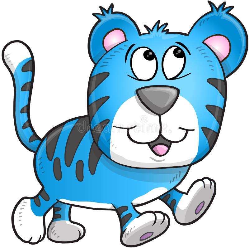 Tiger Vetora alegre ilustração do vetor