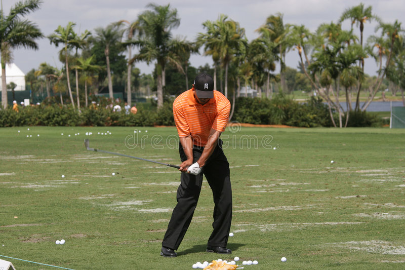 Tiger Woods à WGC Doral 2007 image stock