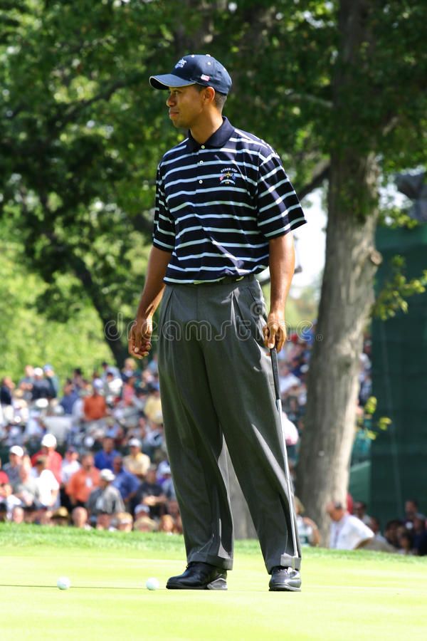 Tiger Woods. 2004 Ryder Cup Oakland Hills Country Club Bloomfield Hills, Michigan royalty free stock image