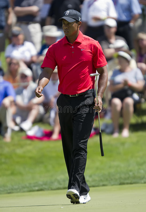 Tiger Woods. Wins his 5th championship at the Memorial Golf Tournament in Dublin, OH royalty free stock photos