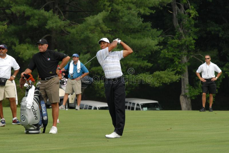 Tiger Woods. At the AT&T National stock images