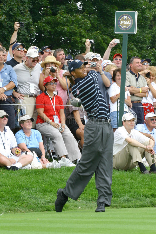 Tiger Woods. PGA Golf Professional stock photos