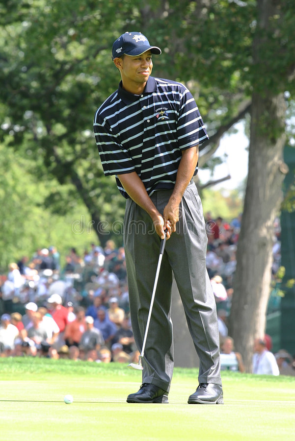 Tiger Woods. PGA Golf Professional royalty free stock photo
