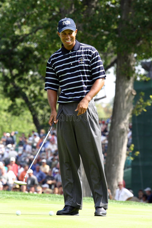 Tiger Woods. PGA Golf Professional royalty free stock images