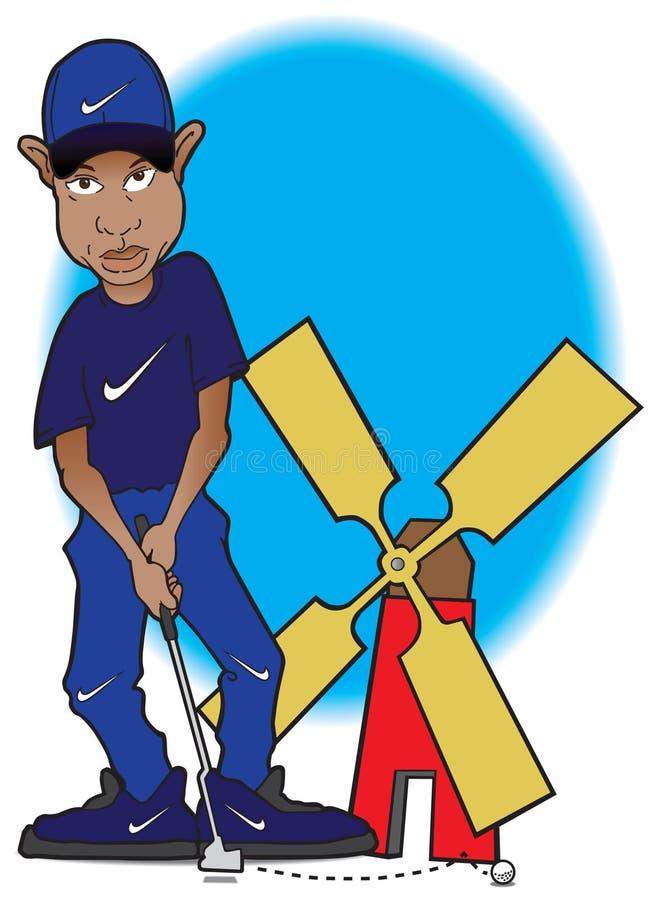 Tiger Woods al terreno da golf miniatura
