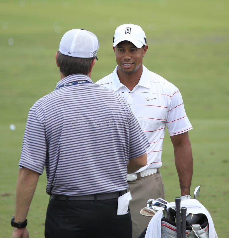 Tiger Woods au championnat 2012 de joueurs images stock