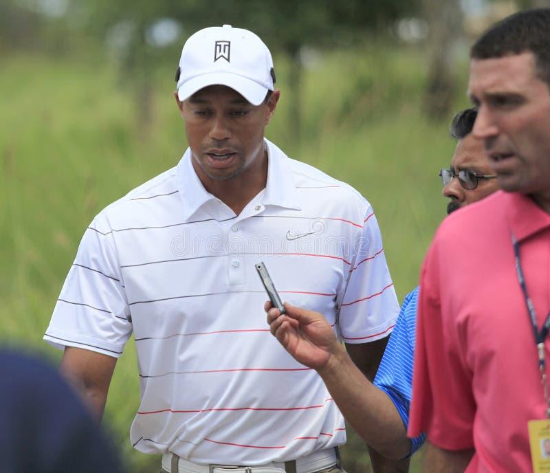 Tiger Woods au championnat 2012 de joueurs photos libres de droits