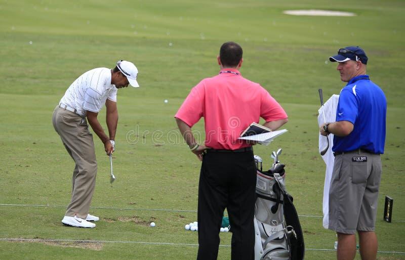 Tiger Woods au championnat 2012 de joueurs photographie stock libre de droits