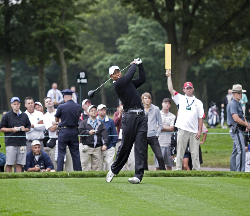 Tiger Woods aux 2009 USA s'ouvrent photos libres de droits
