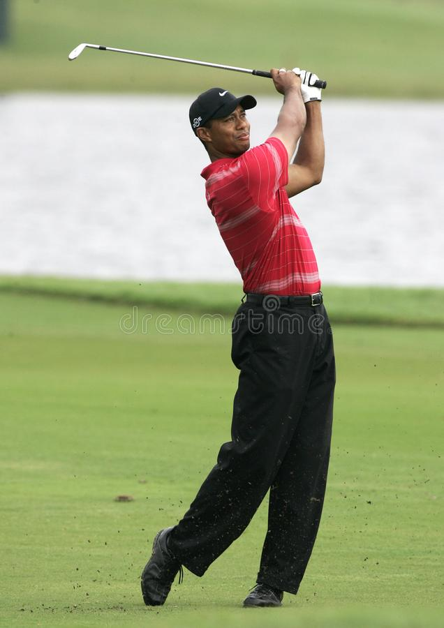 Tiger Woods chez Doral à Miami image stock