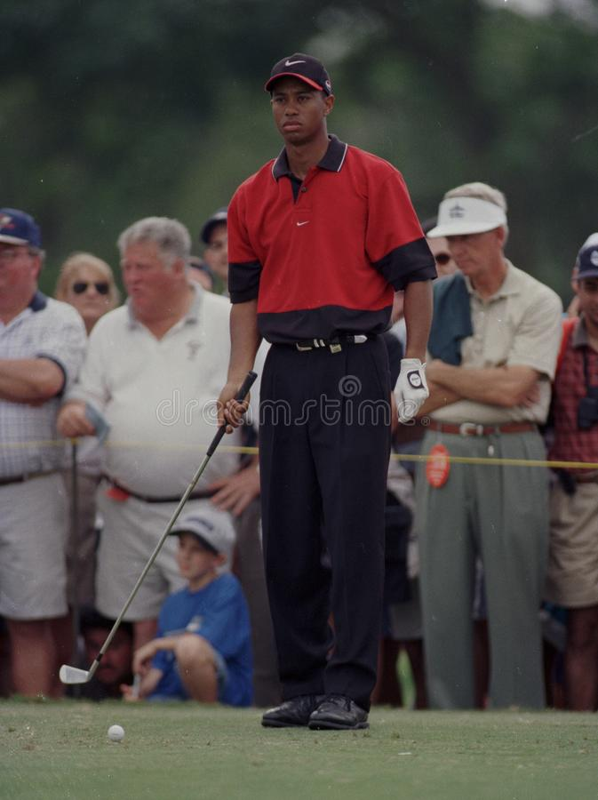 Tiger Woods dans l'action chez Doral Country Club photos stock