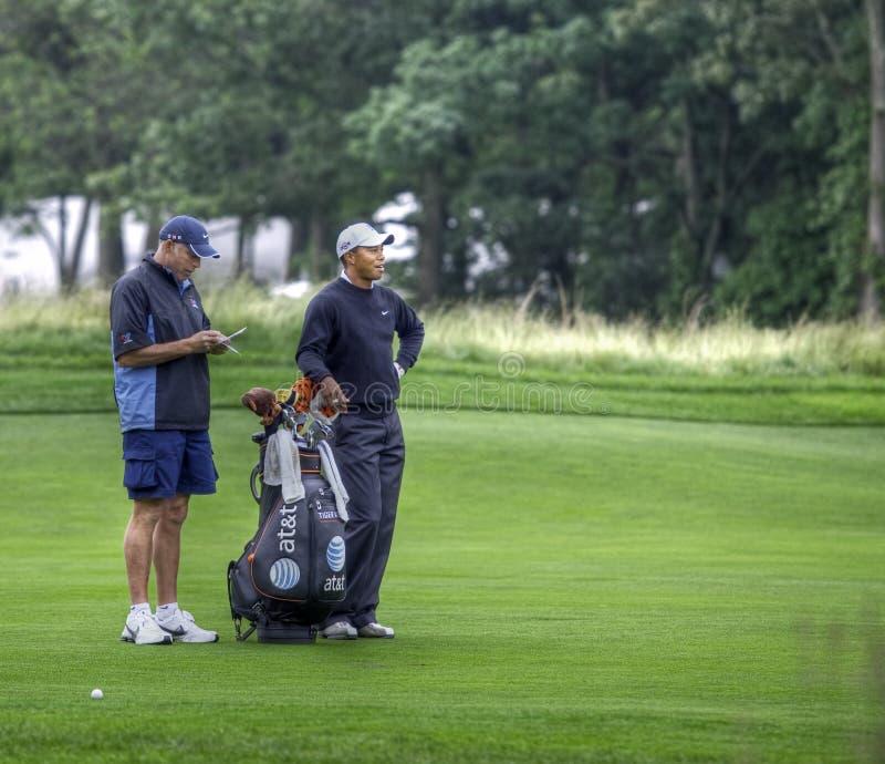 Tiger Woods in den 2009 US öffnen sich lizenzfreies stockfoto