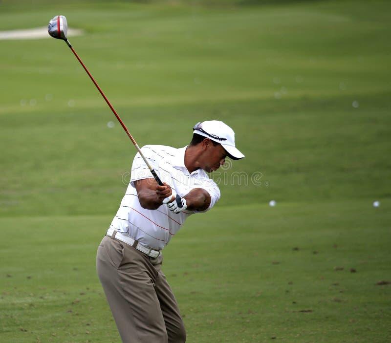 Tiger Woods an der Spieler-Meisterschaft 2012 stockfoto