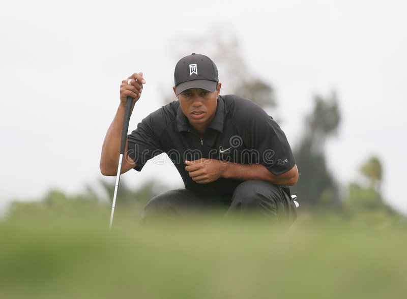 Tiger woods Doral 2007. Tiger Woods at WGC championship, Doral golf course, Miami, Florida, march 2007 royalty free stock photography