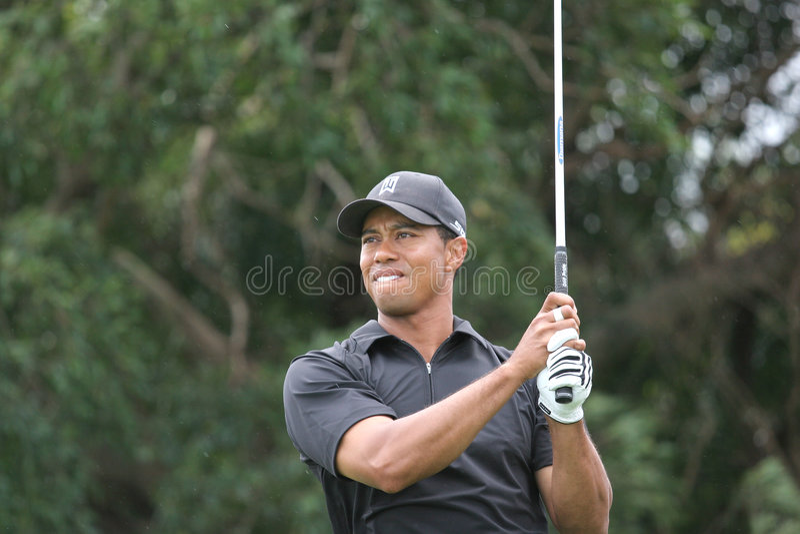 Tiger Woods Doral 2007 images libres de droits