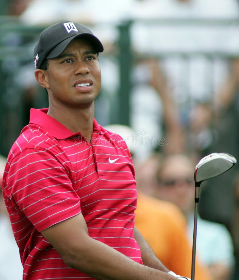 Tiger Woods in Doral in Miami stock afbeeldingen