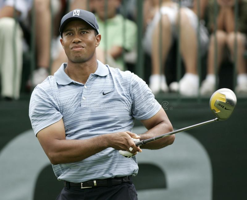 Tiger Woods in Doral in Miami royalty-vrije stock afbeelding