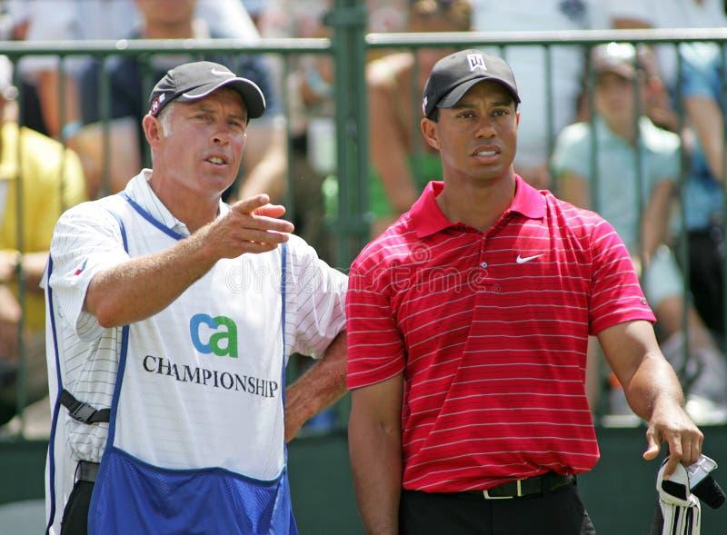 Tiger Woods konkurowanie przy Doral zdjęcia stock