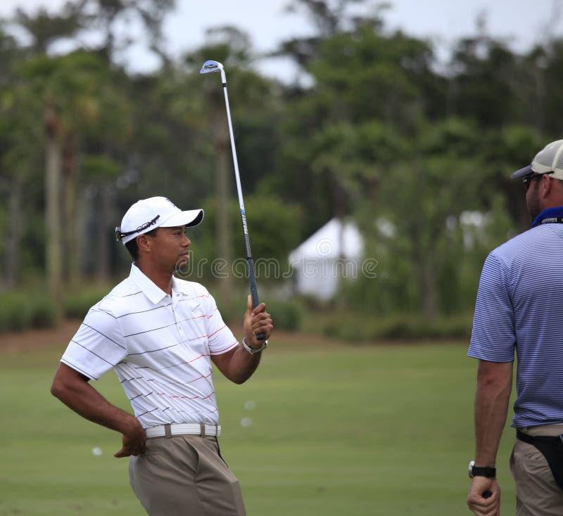 Tiger Woods, les joueurs, TPC Sawgrass, la Floride photo libre de droits