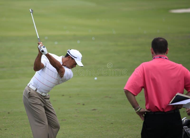 Tiger Woods, les joueurs, TPC Sawgrass, la Floride images libres de droits