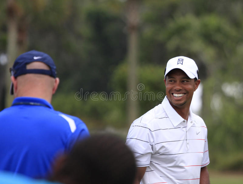Tiger Woods, les joueurs, TPC Sawgrass, la Floride photo stock