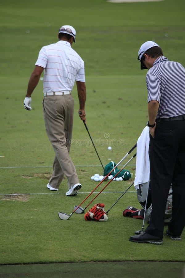 Tiger Woods, les joueurs, TPC Sawgrass, la Floride images stock