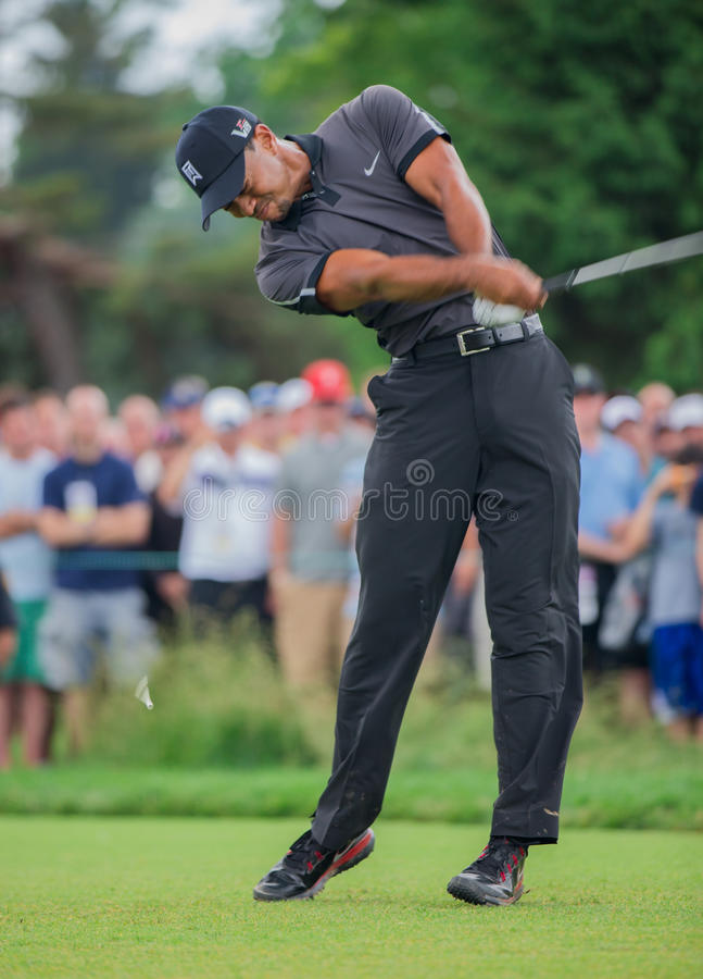 Tiger Woods på US Open 2013 arkivfoton
