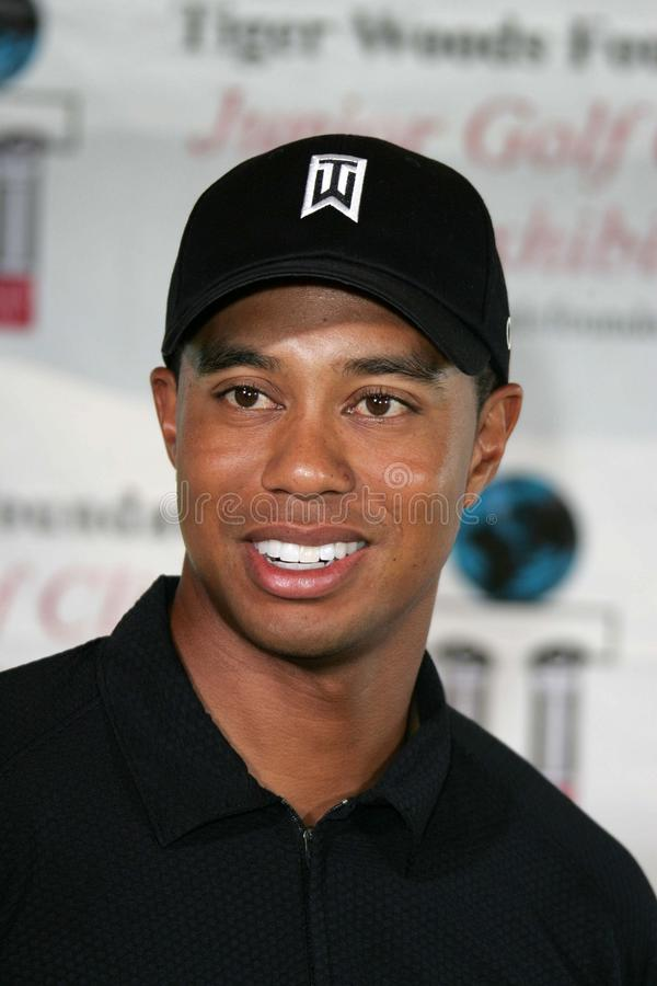 Tiger Woods. At a press conference for the  Youth Foundation Youth Clinic, Miller Golf Course, Anaheim, CA 08-28-04 royalty free stock photos